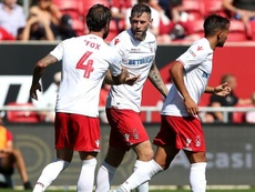 Daryl Murphy equalised for Nottingham Forest. Twitter/NFFC