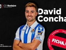 El Badajoz se lleva a David Concha. Twitter/CDBadajoz