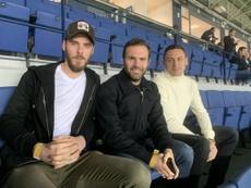 De Gea, Mata y Matic vieron la remontada del Málaga en La Rosaleda. MalagaCF