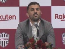 David Villa anuncia su retirada. VisselKobe