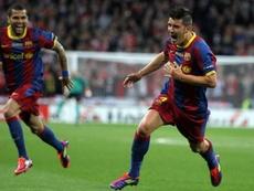 Villa marcó un gran gol por importancia y calidad. FCBarcelona
