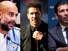 Pep, Cholo y Buffon se perderán el estreno. EFE/AFP