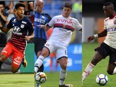 Geubbels, Pellegri et Vinícius, trois stars en devenir. EFE/AFP