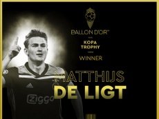 Dutch defender De Ligt wins young player gong at Ballon d'Or awards. AFP