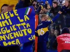 De Rossi dejó su selló en su primera aparición en La Bombonera. Captura/TNTSports