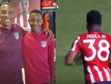 Juan David Perea debutó con el Atlético de Madrid B. LuchoPerea14