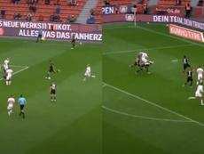 Los golazos siguen en Leverkusen y Leipzig. Capturas/MovistarLigadeCampeones
