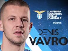 Vavro, nuevo jugador de la Lazio. Captura/Lazio