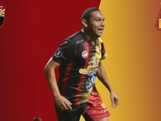 Bernaldo Manzano, a Deportes Tolima. Twitter/DeportivoLara
