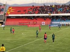 El conjunto 'asegurador' logró la victoria en el último suspiro. Twitter/DeportivoPasto/Archivo