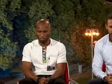 Drogba na reação às palavras de Ferdinand. Goal