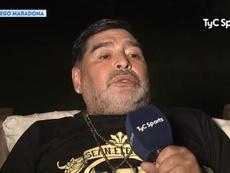 Maradona falta a treino do clube outra vez. Captura/TyCSports