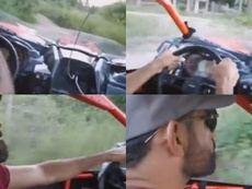 Un amigo le grabó mientras conducía. Capturas/Instagram/diego.costa