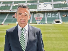 Diego García se ha disculpado con la afición ilicitana por el descenso del club. ElcheCF