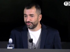 Diego Martínez salió pletórico a sala de prensa. Captura/GCFTV