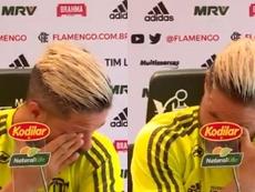 Diego não consegue segurar as lágrimas. Captura/EsporteInterativo
