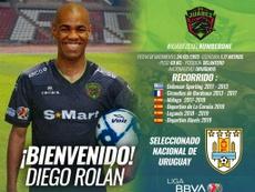 Diego Rolan, a México. Twitter/fcjuarezoficial