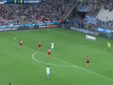 Payet stunned onlookers with a mesmerising goal. Screenshot/Canal+
