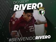El Burgos se hace con Diosbert Rivero. Twitter/BurgosCF