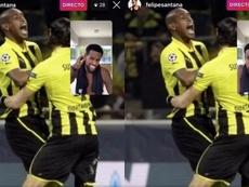 Felipe Santana dijo que su gol fue legal. Capturas/Instagram/felipesantana