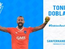 Doblas, nuevo jugador del San Fernando. SanFernandoCD