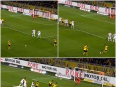 A training ground goal gave Dortmund the opener against Werder Bremen. CAPTURA/MONTAGE