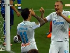Driussi dio una asistencia y firmó un gol en el estreno liguero del Zenit. Captura/es_fczenit