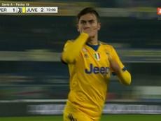 Dybala rescató a la Juventus. Captura/ESPN