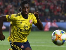 Nketiah could be on his way to Sheffield Wednesday. AFP