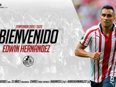 Edwin Hernández se convirtió en nuevo jugador del Salamanca. SalamancaCFUDS
