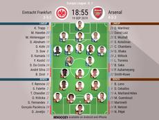 Eintracht Frankfurt v Arsenal, Europa League matchday 1, 19/09/19 - official-line-ups. BeSoccer