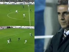 La jugada entre Darío Silva y Reyes que encarriló la goleada al Real Madrid. Captura/Canal+