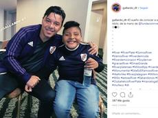 El 'Muñeco' tuvo un gran gesto solidario en la visita de River Plate a Salta. Instagram/Gallardo_dt