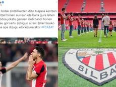 Augsburg wrote a message to Aritz Aduriz. Twitter/Athletic/FCAugsburg