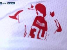 El Ajax le dedicó su título número 34 a Abdelhak Nouri. Captura/FoxSports