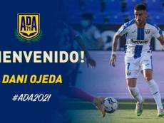 Dani Ojeda firmó con el Alcorcón. Twitter/AD_Alcorcon