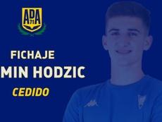 La promesa bosnia Armin Hodzic, fichado por el Alcorcón y cedido al Estoril. Twitter/AD_Alcorcon
