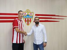 Petrovic respondió con dureza a Pepe Mel. Twitter/U_D_Almeria