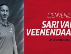 La holandesa cambia el Arsenal por el Atleti. Twitter/AtletiFemenino