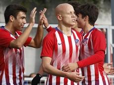 Mollejo, uno de los goleadores. Twitter/AtletiAcademia