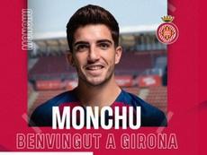 Monchu, albirrojo hasta junio de 2021. Twitter/GironaFC