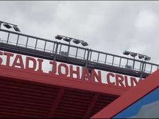 El Barcelona distriubuyó un vídeo promocional sobre el Estadi Johan Cruyff. Twitter/FCBarcelona_es