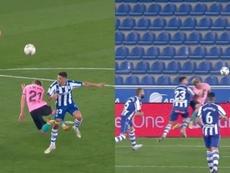 El Barcelona reclamó penalti sobre De Jong. Captuas/MovistarLaLiga