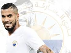 Jonathas se marcha a la Liga de Emiratos. Twitter/SharjahFC