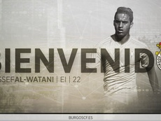 El Burgos CF confirmó la contratación del extremo Youssef Al-Watani. BurgosCF