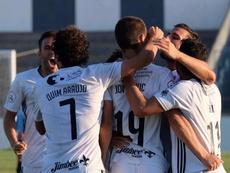 Jovanovic le da el triunfo al Cartagena. Twitter/FCCartagena_efs