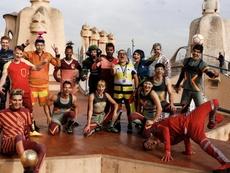 El Circo del Sol, en el corazón de Barcelona. Twitter/MessiCirque
