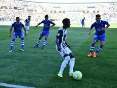 El Badajoz ha perdido su primer partido del curso en la visita del San Fernando. Twitter/CDBadajoz
