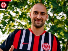Bas Dost has moved to Eintracht Frankfurt from Sporting. Twitter/EintrachtFrankfurt