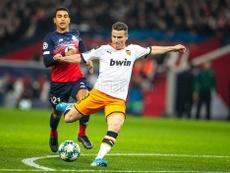 El Valencia concedió mucho ante el Lille. Twitter/ValenciaCF